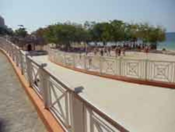 Walkways throughout the Iberostar Rose Hall beach Resort make it stroller friendly