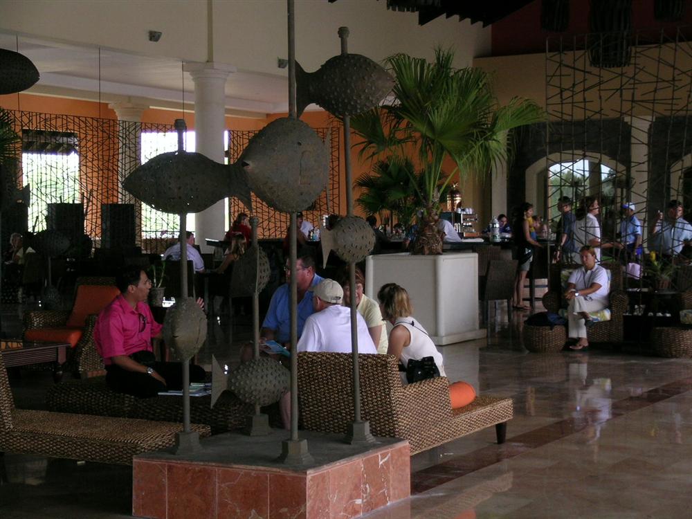Lobby view of Ocean Blue Resort