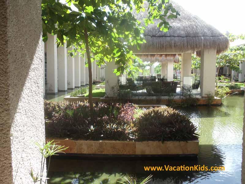 Entry water gardens the lounge areas of the Paradisus La Esmeralda