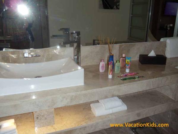 Family concierge kids bath amenities at the Paradisus La Esmeralda Resort