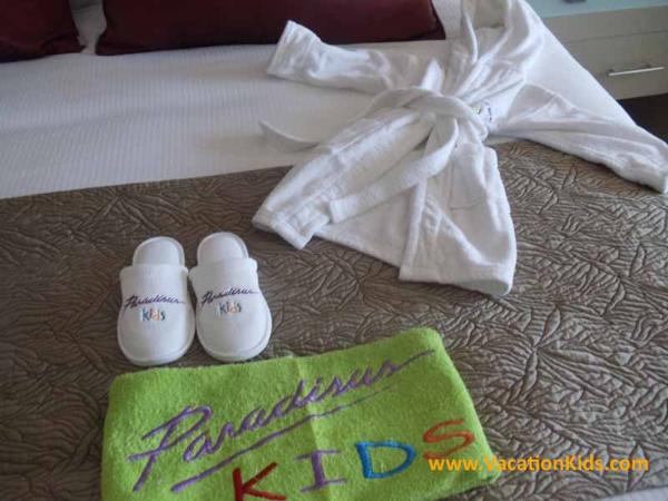 Kids Robe and slippers at Paradisus La Esmeralda Resort