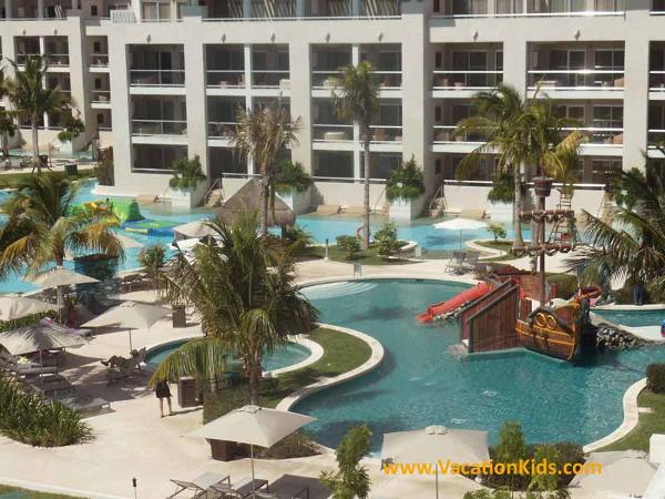 Pool and water park view of the Paradisus La Esmeralda Resort