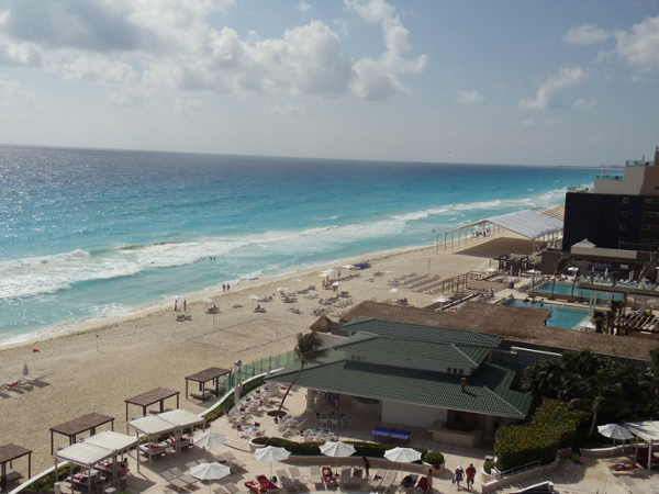 Beach view right from the rooms at Sandos Cancun