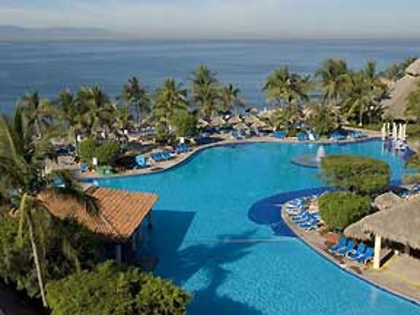 Pool View of the Melia Puerto Vallarta