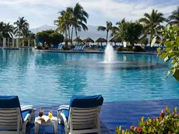 Enjoy a relaxing stay pool side at the Melia Puerto Vallarta