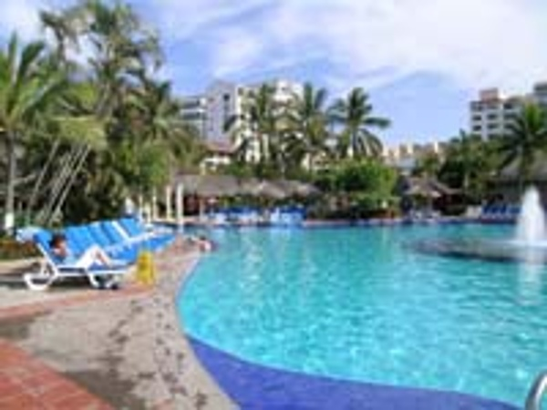 The Melia Puerto Vallarta offers a huge heated pool for families