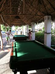 Pool tables for families to enjoy at the Melia Puerto Vallarta
