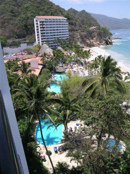 Balcony views from Dreams Puerto Vallarta