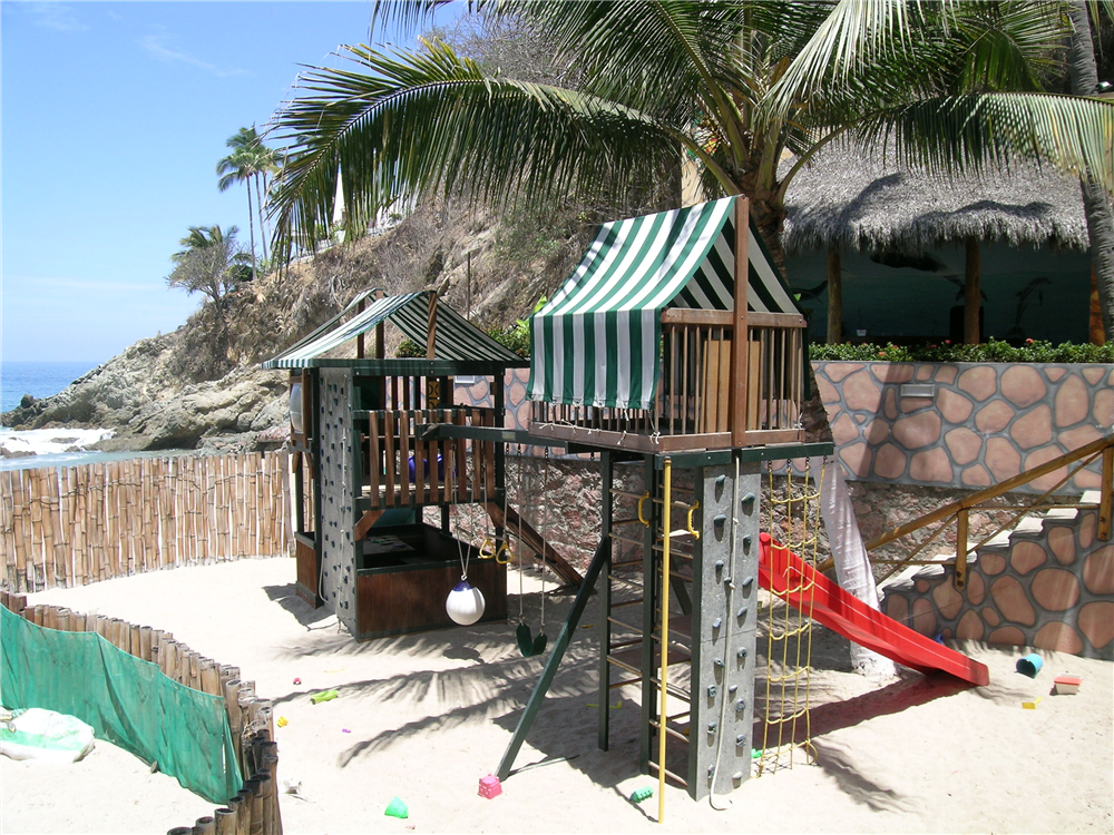Kids playground on the beach at Dreams Puerto Vallarta