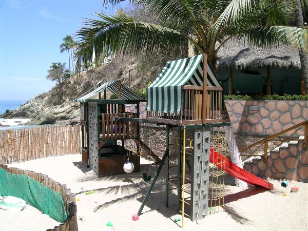 Kids playground on the beach at Dreams Puerto Vallarta