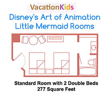 Art of Animation Little Mermaid Floor Plan