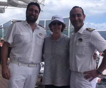 MSC Seaside Sally Black and Captain DePalma