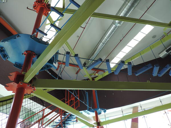 Kids Indoor ropes course at The Grand at Moon Palace
