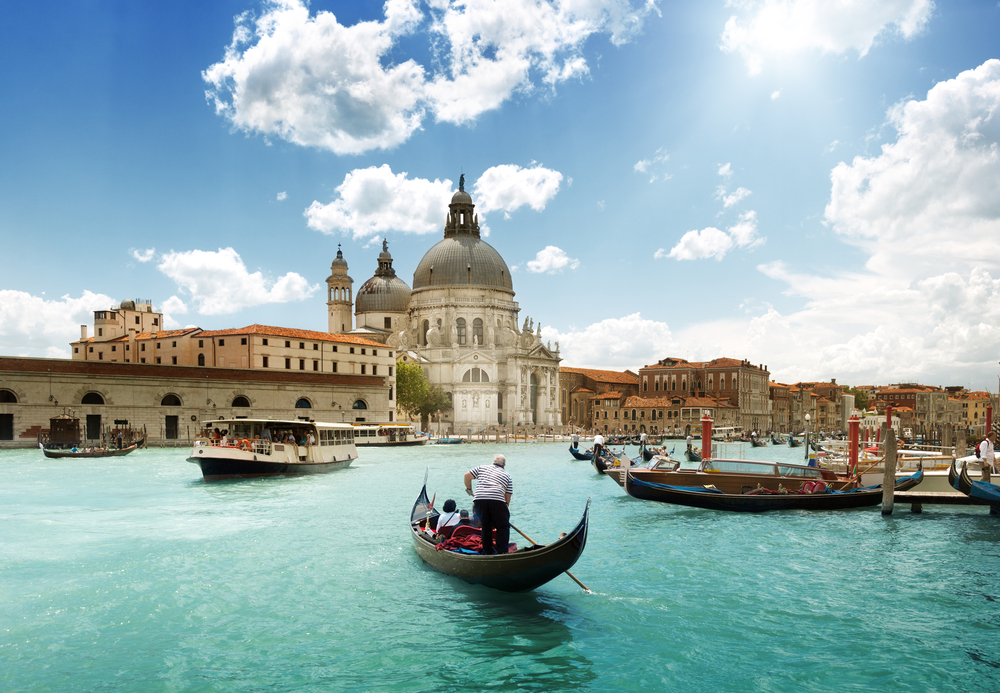 Grand Canal and Basilica Santa Maria della Salute, Venice, Italy and sunny day.jpeg
